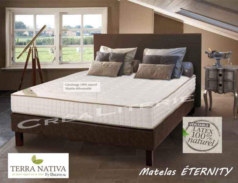 Matelas biotex 140x190 ternity 23 cm 100 latex naturel 7 zones de confort - Dunlopillo latex naturel ...