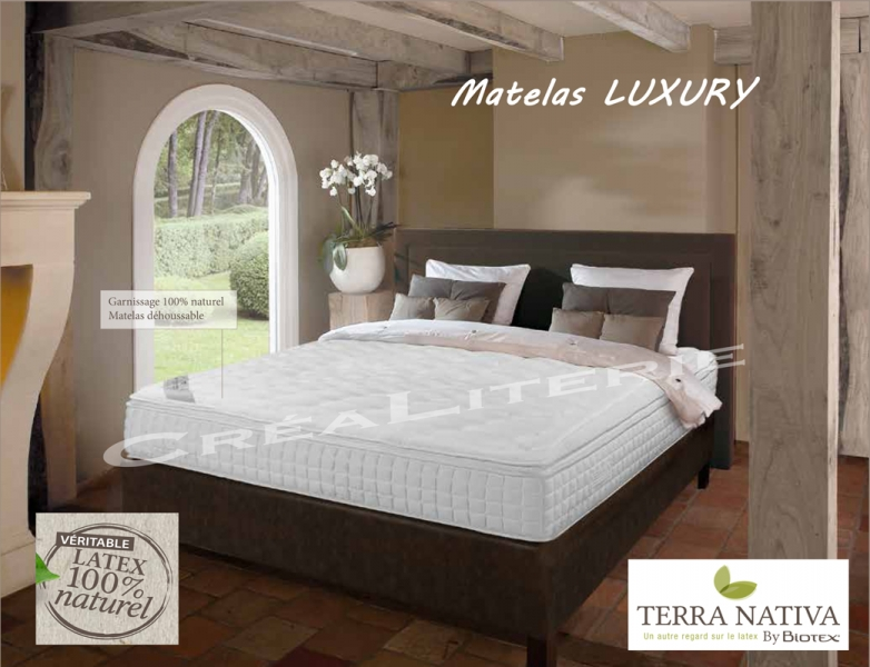 matelas biotex 140x190 luxury 26 cm 100 latex naturel topper mat riaux naturel fabrication. Black Bedroom Furniture Sets. Home Design Ideas
