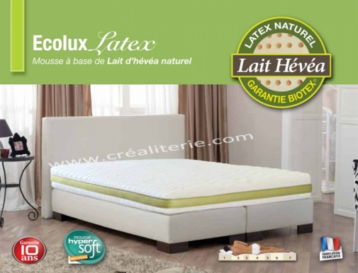 matelas colux latex de biotex 140x190 latex v g tale naturel multizones densit 80 kg m3. Black Bedroom Furniture Sets. Home Design Ideas