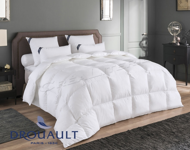 couette drouault sublime 220 g m naturel en duvet d 39 oie haute qualit housse micro tencel. Black Bedroom Furniture Sets. Home Design Ideas